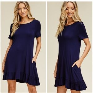 RUFFLE SWING DRESS - NWT!